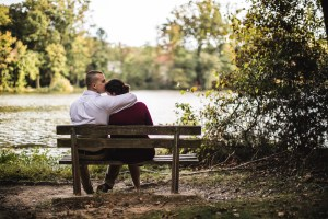 This Couple's Engagement Session in White & Maroon 10