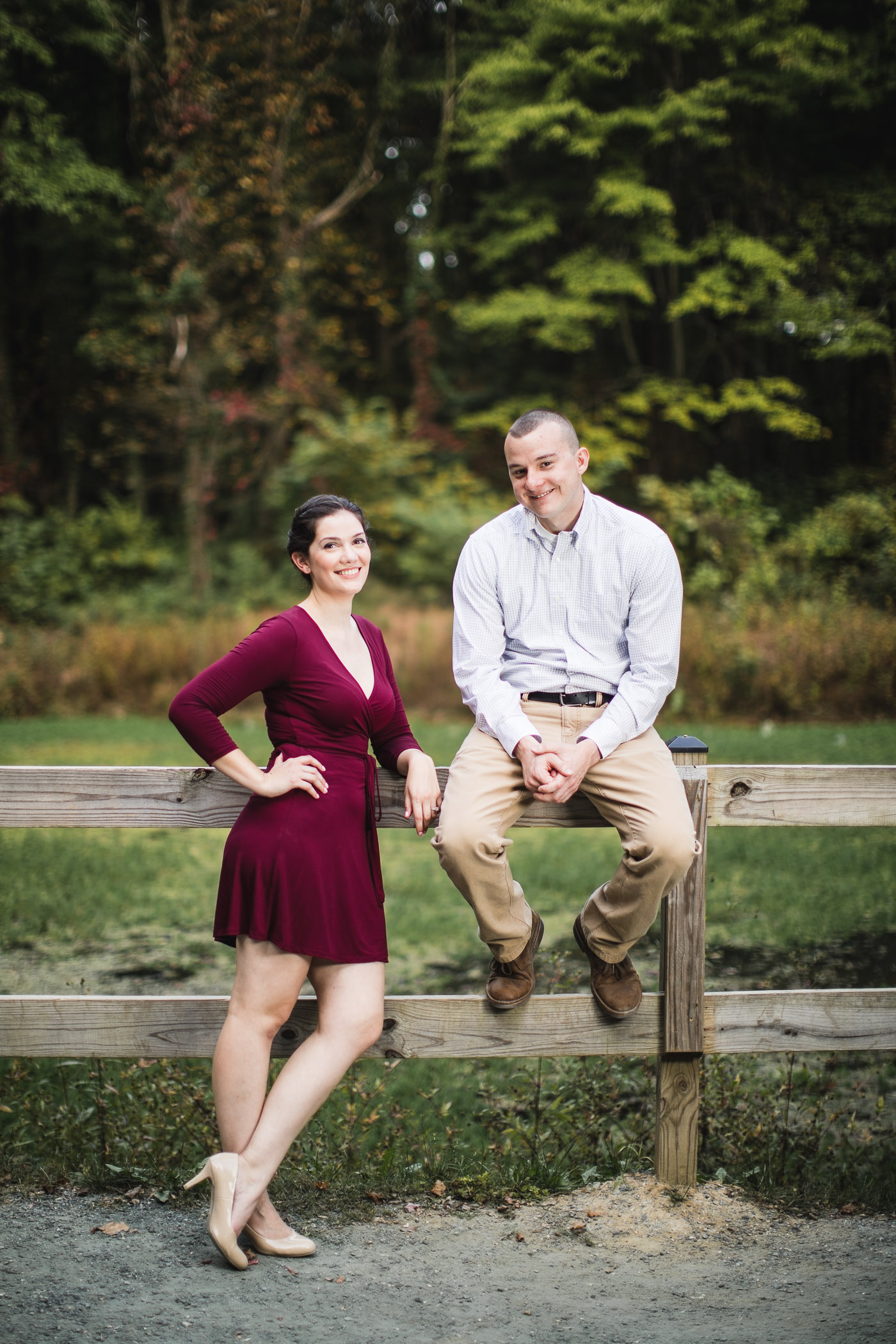 This Couple's Engagement Session in White & Maroon 15