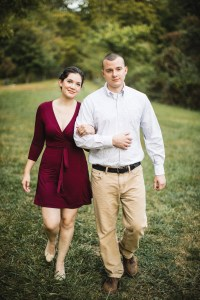 This Couple's Engagement Session in White & Maroon 17