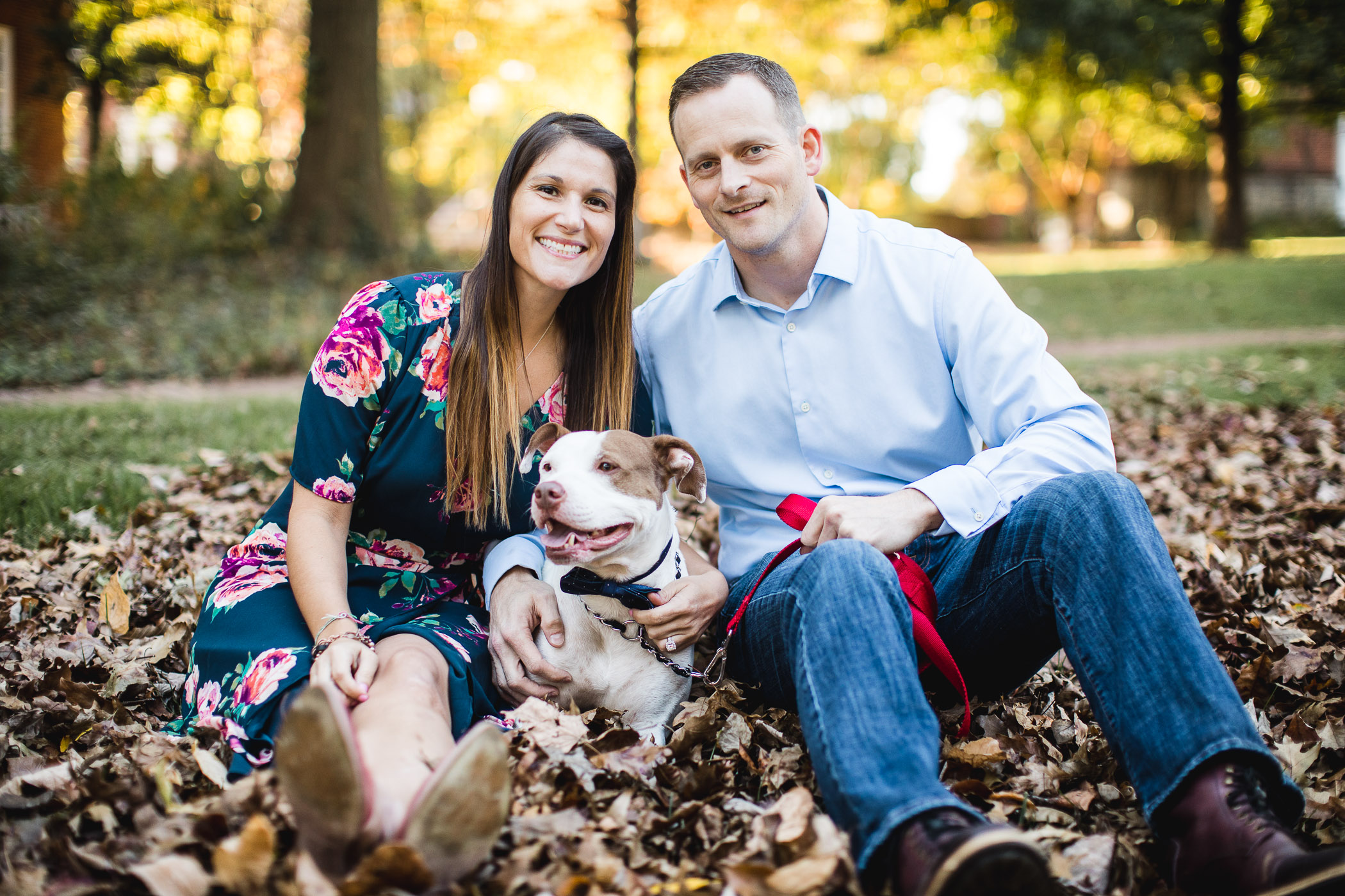 Hand & Hand & Paw Engagement Session on the Streets of Annapolis 08