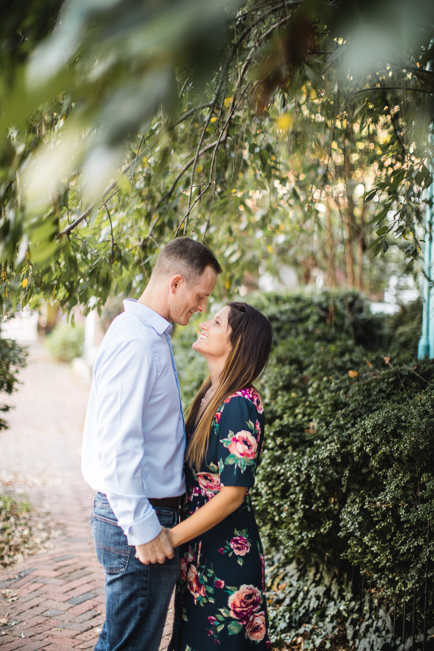 Hand & Hand & Paw Engagement Session on the Streets of Annapolis 14