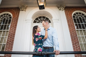 Hand & Hand & Paw Engagement Session on the Streets of Annapolis 22