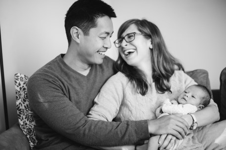 A Portrait Session with a Newborn Family 06