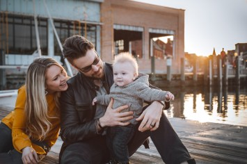 Sunset Family Portraits with Greg on the Streets of Downtown Annapolis 20
