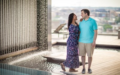 Kennedy Center Engagement Session | Aaron & Maariya