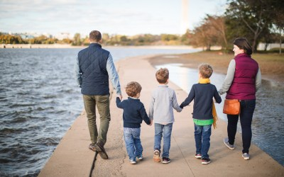Tidal Basin Family Portraits | Ross & Sarah's Family