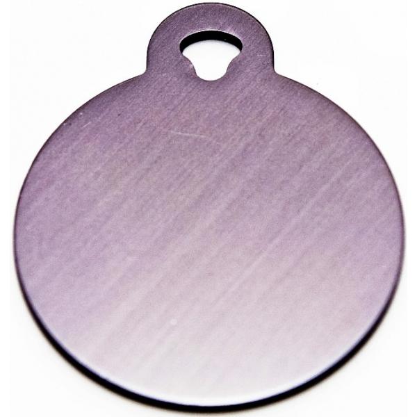 engraved small silver circle