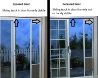 What is a recessed door frame?