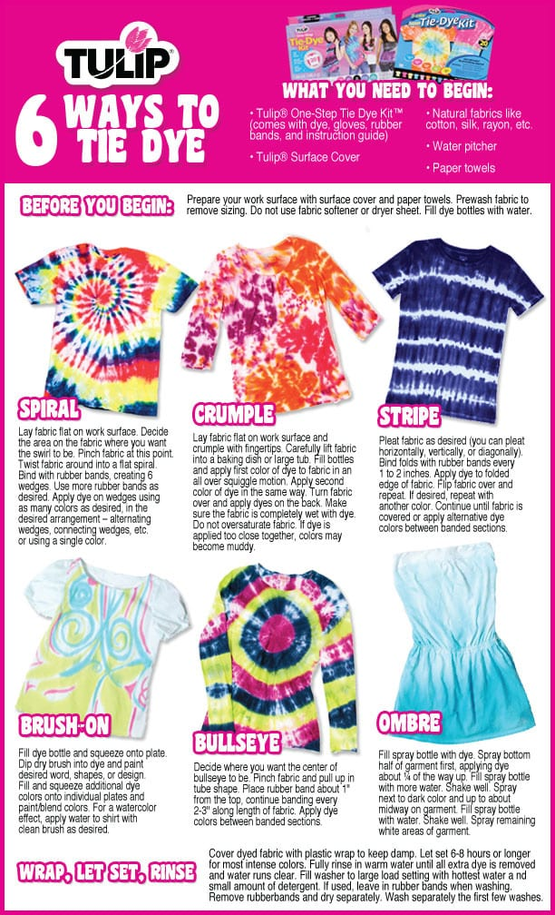 tulip tie dye kit washing instructions