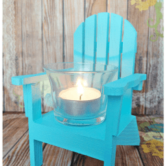 How To Make A Wooden Chair Country French Side Chairs Mini Adirondack Chairs: Two Ideas For Your Nautical Decor Or Wedding! - Pet Scribbles