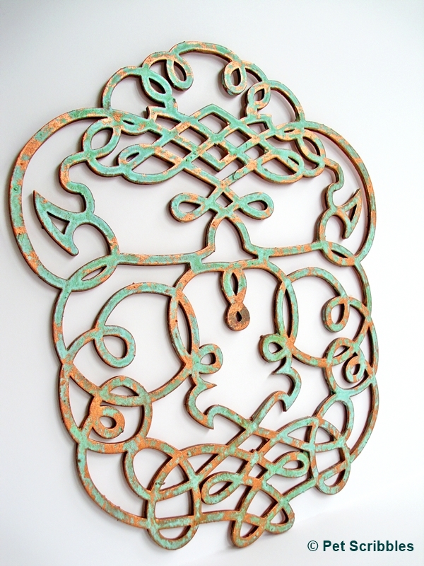 Diy Metallic Faux Tin Ceiling Tile Wall Art Or Backdrop 223