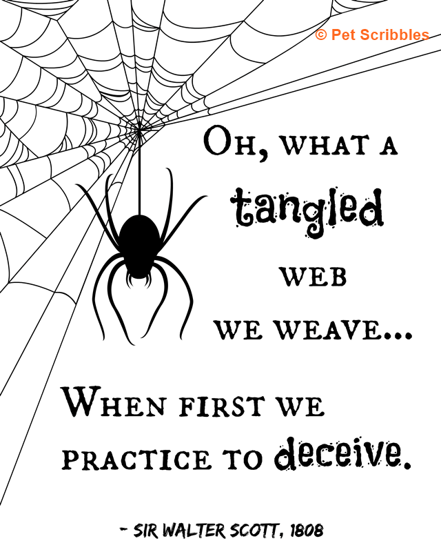 What a tangled web we weave! Halloween printable