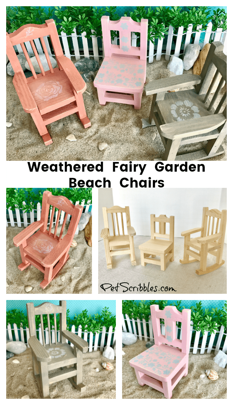 how to make a wooden beach chair wood arm covers weathered fairy garden chairs pet scribbles