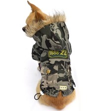 PETSOO Classic Camo Dog Clothes Winter Pet Coat XS