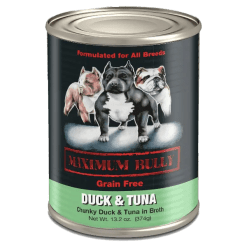 Maximum Bully Duck and Tuna Can Dog Food