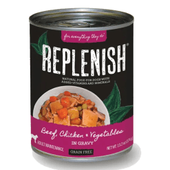 Replenish Beef, Chicken & Vegetables in Gravy Can Dog Food