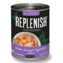 Replenish Chicken Sausage & Vegetables in Gravy Can Dog Food