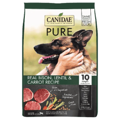 Canidae Grain Free Bison, Lentil and Carrot Recipe.