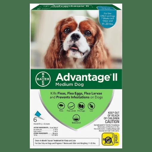 Advantage II Flea Treatment 11 to 20 lbs.