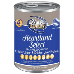 NutriSource Dog Canned Heartland 13oz Case.