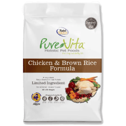 NutriSource Pure Vita Dog Chicken Rice 15lb.