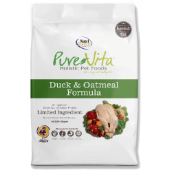 NutriSource Pure Vita Dog Duck Oatmeal 15lb.