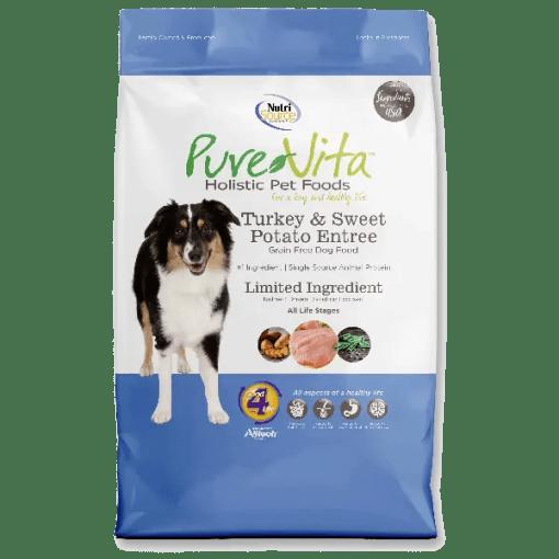 NutriSource Pure Vita Dog Grain Free Turkey Sweet Potato 5lb.
