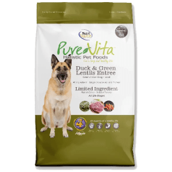 NutriSource Pure Vita Dog Grain Free Duck Green Lentils 5 lb.