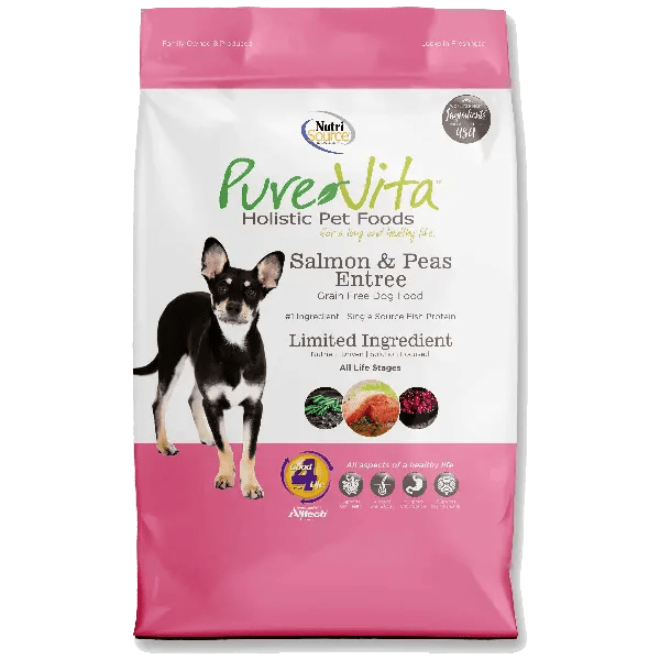 Pure Vita Dog Dry Grain Free Salmon Peas 25lb Pet Food Pet Supplies Curbside Pickup Available