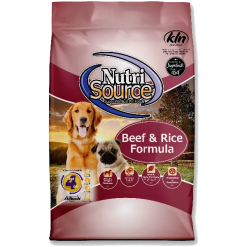 NutriSource Dog Beef Brown Rice 5lb.