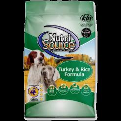 NutriSource Dog Turkey Rice 15lb.