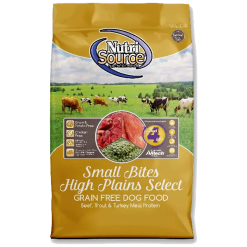 NutriSource Dog Food, Grain Free, Small Bites, High Plains Select.