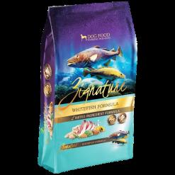 Zignature Whitefish Dry Dog Food.