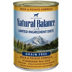 Natural Balance L.I.D. Duck & Potato Formula Grain-Free Canned Dog Food,13-oz, Case of 12