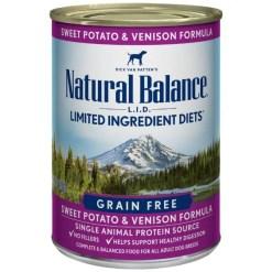 Natural Balance L.I.D. Sweet Potato & Venison Formula Grain-Free Canned Dog Food, 13-oz, Case of 12