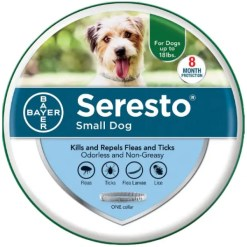 Seresto 8 Month Flea & Tick Prevention Collar for Small Dogs, Under 18-lb.