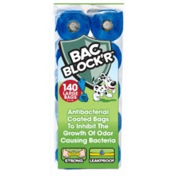 Bags on Board Bac Block'R Antibacterial Coated Bag Refill, 140 Pack.