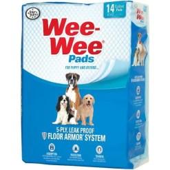 Wee-Wee Absorbent Dog Pads, 14 Pack.