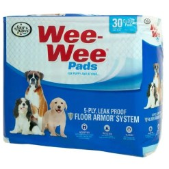 Wee-Wee Absorbent Dog Pads, 30 Pack.