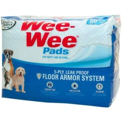 Wee-Wee Absorbent Dog Pads, 50 Pack.