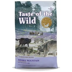 Taste of the Wild Sierra Mountain Grain-Free Dry Dog Food.