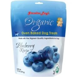 Grandma Lucy's Organic Blueberry Oven Baked Dog Treats, 14-oz bag.