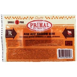 Primal Raw Frozen Beef Bone, Small.