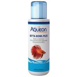 Aqueon Betta Bowl Plus Water Conditioner, 4-oz Bottle.