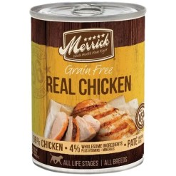 Merrick Grain-Free Real Chicken Canned Dog Food, 12.7-oz.