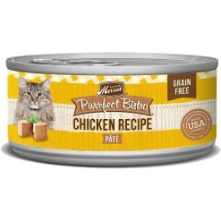 Merrick Purrfect Bistro Grain-Free Chicken Pate Canned Cat Food, 5.5-oz Can.