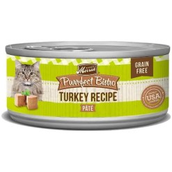 Merrick Purrfect Bistro Grain-Free Turkey Pate Canned Cat Food, 5.5-oz Can.