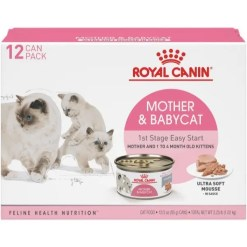 Royal Canin Mother & Babycat Wet Cat Food for New Kittens, Nursing or Pregnant Mother Cats, 3-oz Case of 12.