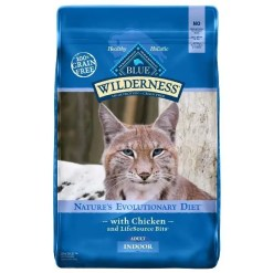 Blue Buffalo Wilderness Indoor Chicken Recipe Grain-Free Dry Cat Food, 11-lb Bag.