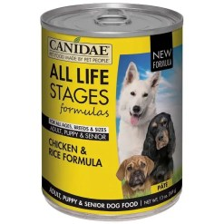 CANIDAE Life Stages Chicken & Rice Formula Canned Dog Food, 13-oz. Case of 12.